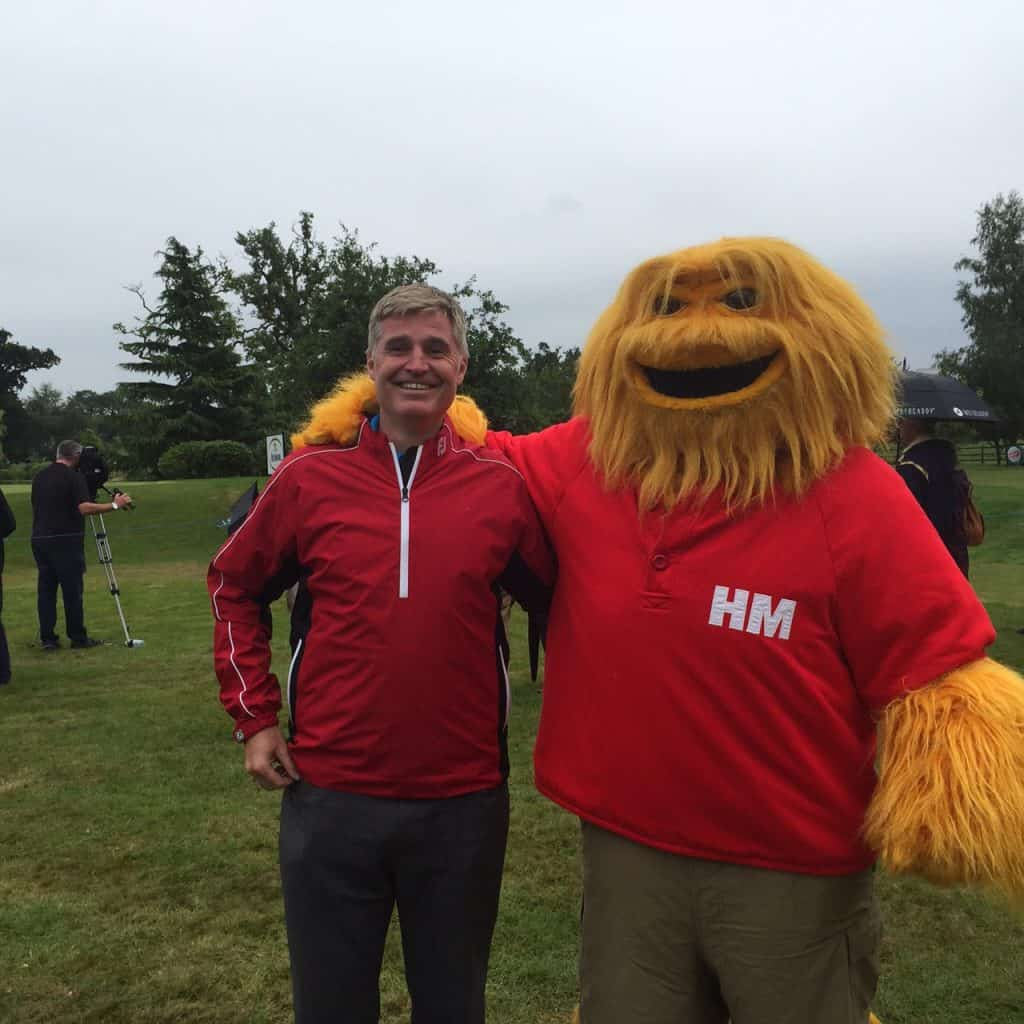 Steve King of Fore King Golf With The Honey Monster At The British Par 3 Championships