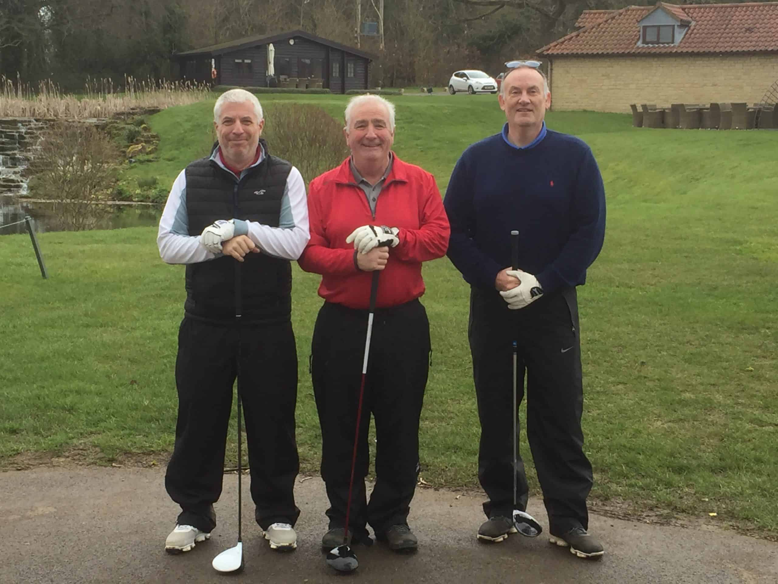 Chris Jeffcutt, Roger Chequer & Mark Mumford were the first players to play on the Fore King Golf Tour