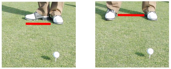 PGA Pro Richard Lawless Showing How to Get The Correct Width Of Stance For The Driver