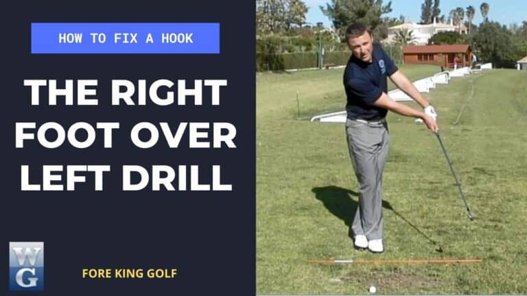 How To Fix A Hook With The Right Foot Over Left Drill