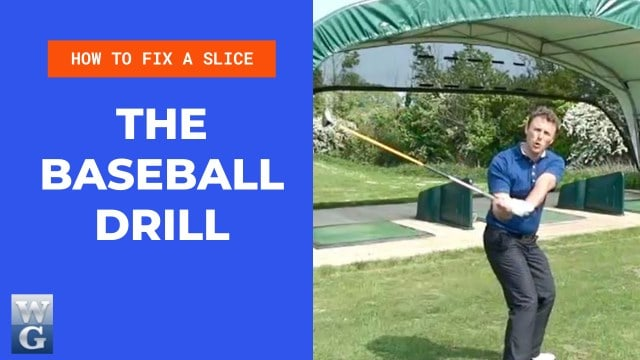 How to Fix A Slice With The Baseball Drill