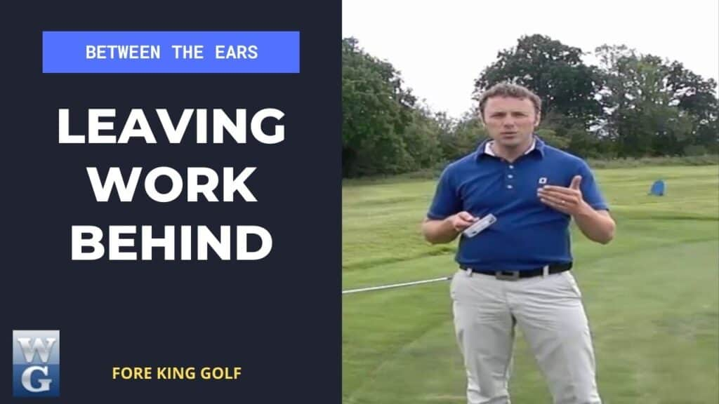 Leaving Work Behind When You Are On The Golf Course