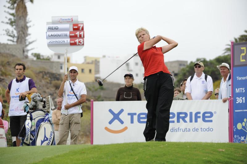 Trish Johnson In Action On European Tour in Tenerife