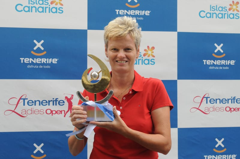 Trish Johnson Winning on the Ladies European Tour in Tenerife