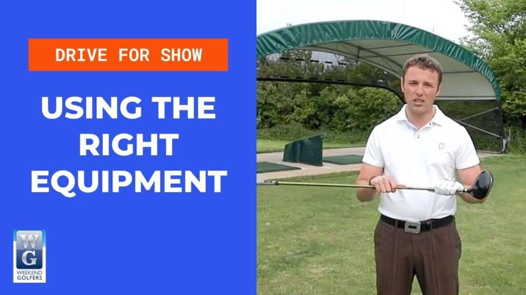 Using the right equipment in golf