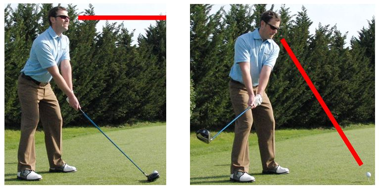 PGA Pro Richard Lawless showing V-symmetry head position in the golf swing
