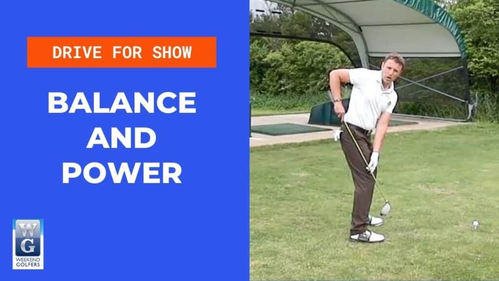 balance and power set up in the golf swing