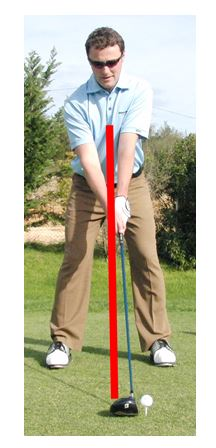PGA Pro Richard Lawless showing the breatbone position in the golf swing