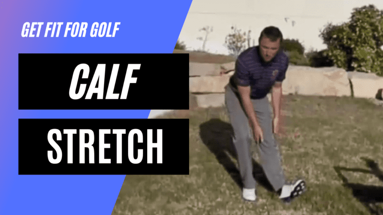 static stretch for the calf muscle