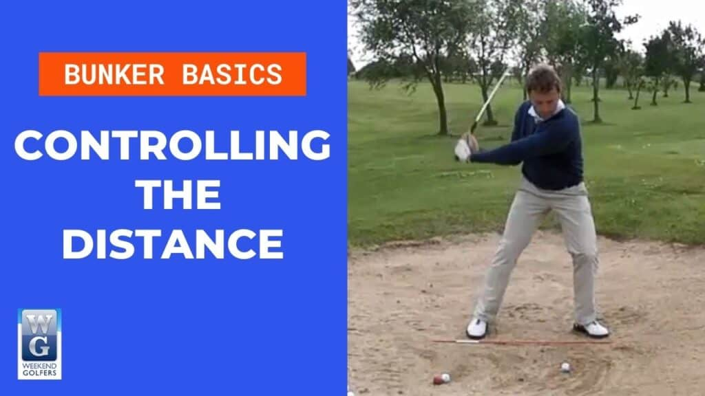 controlling the distance with a bunker shot