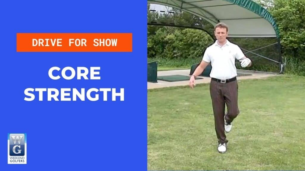 core strength in the golf swing