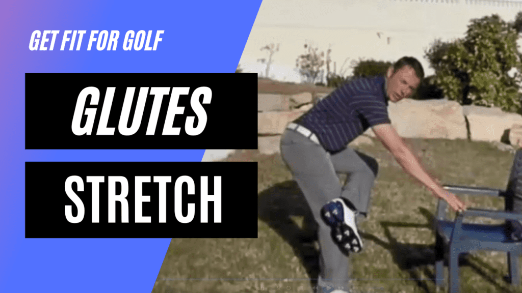 static stretch for the glutes