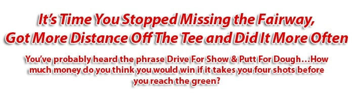 graphic headline text for drive show golf coaching