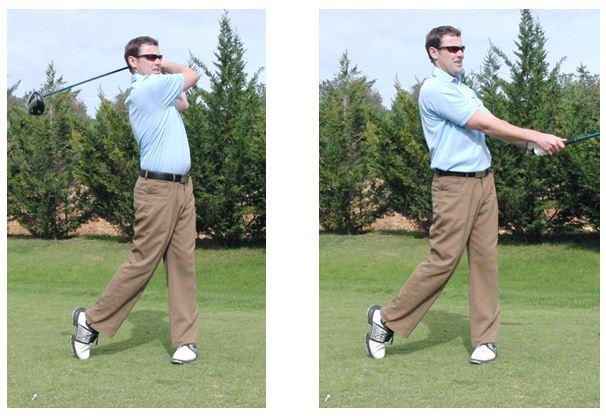 PGA Pro Richard Lawless teaching key stage 5 of the golf swing