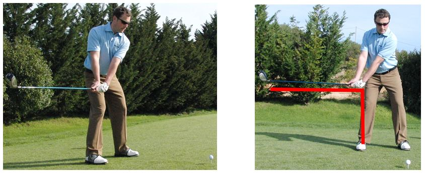 PGA Pro Richard Lawless showing key stage 1 in the golf swing