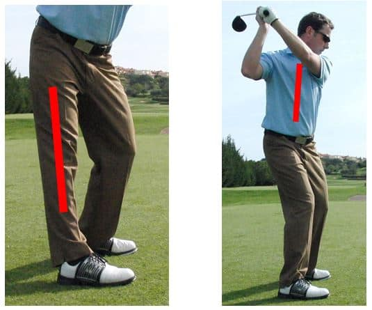 PGA Pro Richard Lawless showing key stage 2 errors in the golf swing