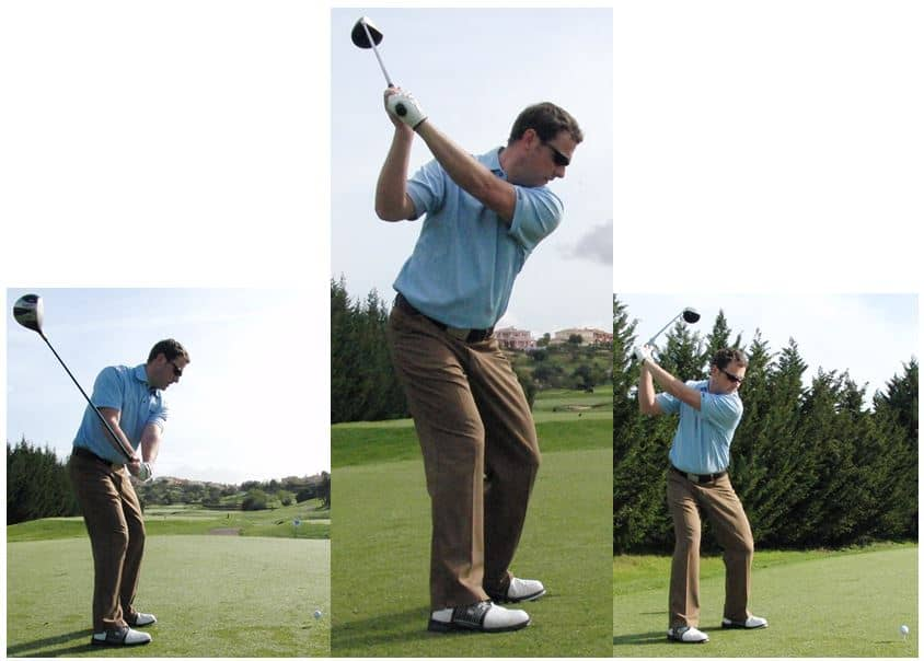 PGA Pro Richard Lawless showing key stage 2 in the golf swing