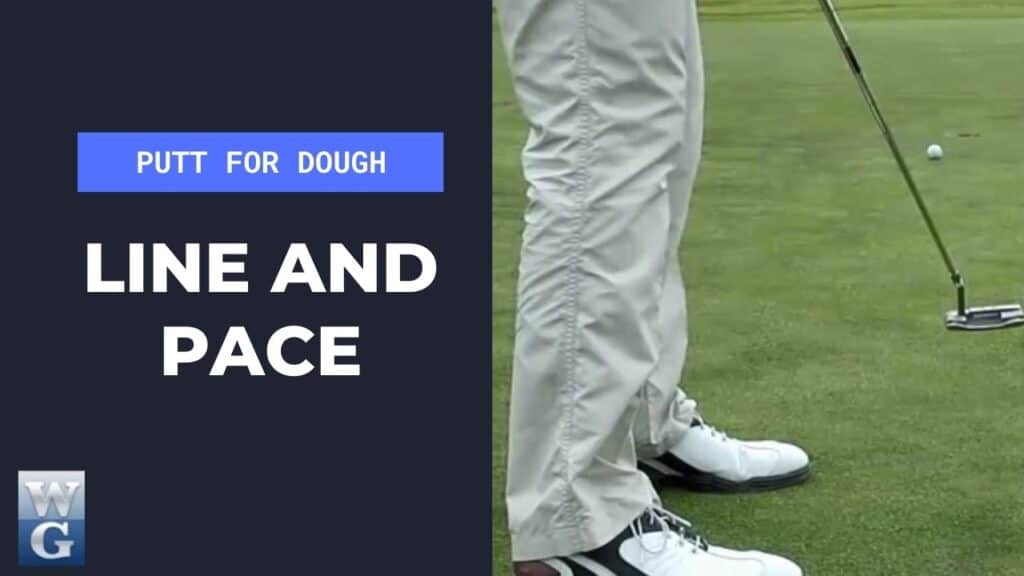 line and pace in the putting stroke
