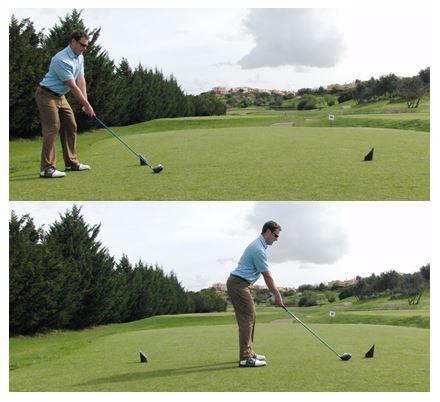 PGA Pro Richard Lawless teaching tee box alignment on the course
