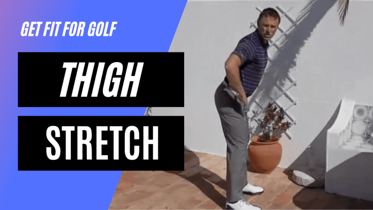 static stretch for the thigh muscle