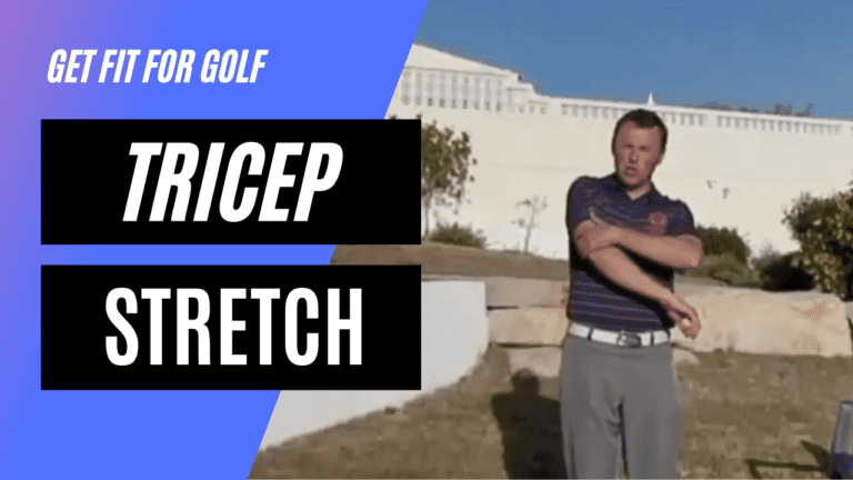 static stretch for the tricep muscles