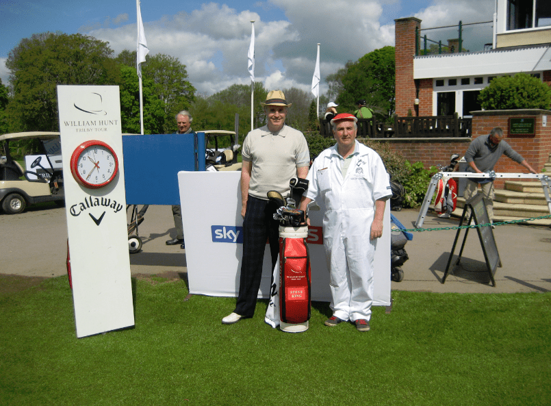 Steve King & Roger Chequer Before Teeing Off On The Trilby Tour At Frilford Heath Golf Club