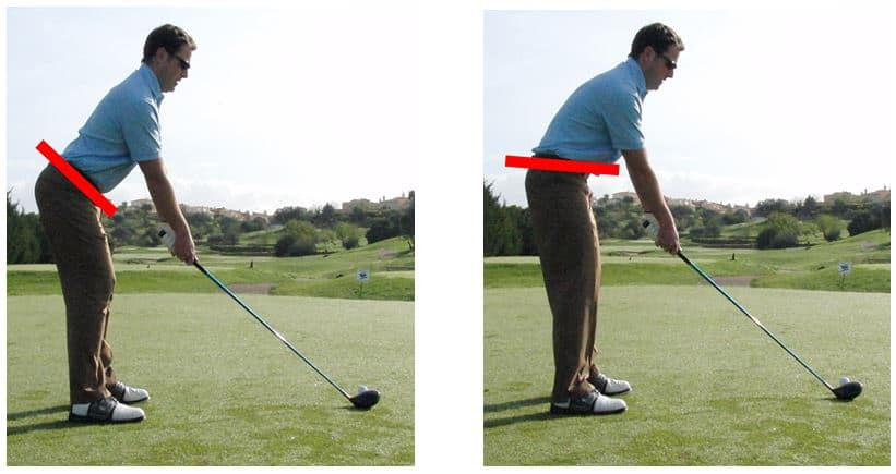 PGA Pro Richard Lawless showing V-symmetry comparison in the golf swing