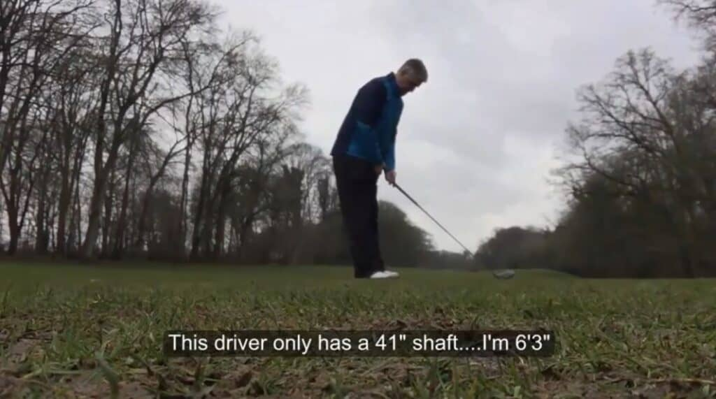 Steve King hitting a Ping G400 with a short shaft