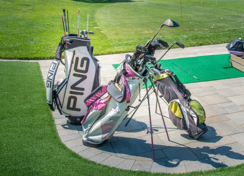 Golf Bags On The Patio