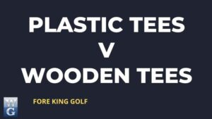 A Picture asking 'Plastic tees or wooden Tees'