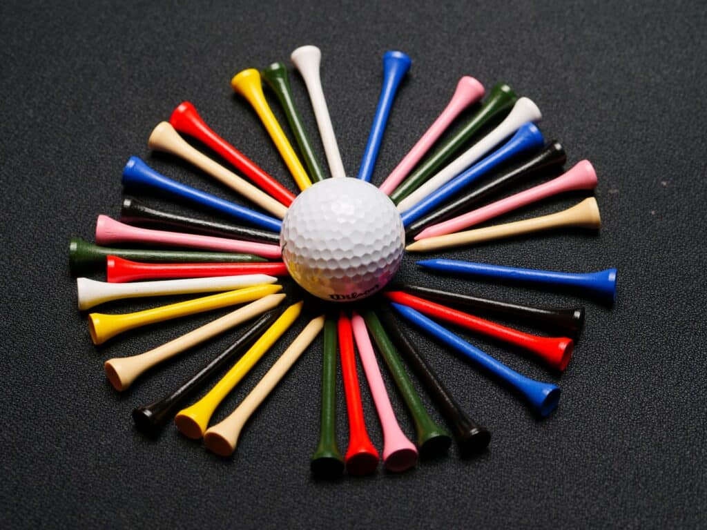 picture of plastic golf tees