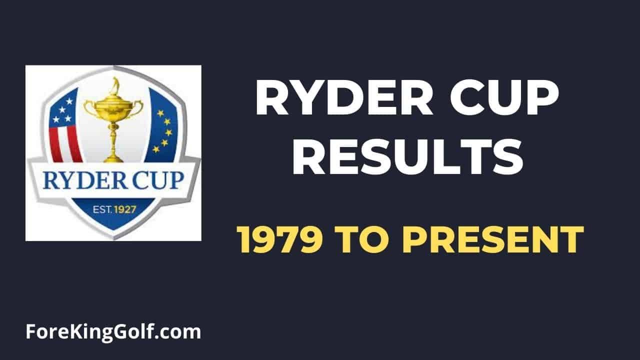 Ryder Cup Results (1979 to Present)