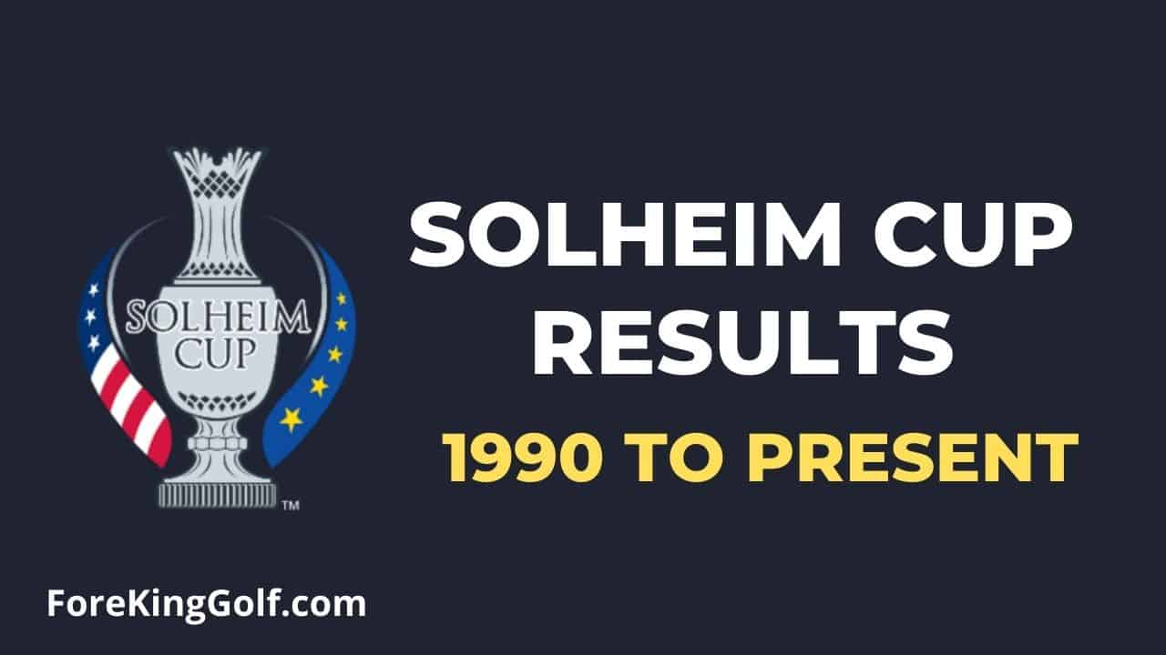 Solheim Cup Results (1990 to Present)